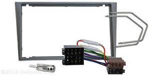 OPEL-Corsa-C-Vectra-Combo-Agila-Omega-B-Doppel-2-DIN-Radio-Blende-Rahmen-Adapter