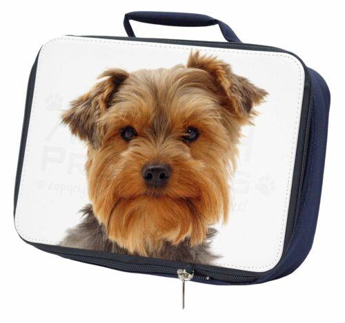 Cute Yorkshire Terrier Dog Navy Insulated School Lunch Box Bag AD-Y12LBN