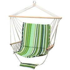 Green Leisure Soft Padding Swing Hanging Chairs Armrest Hammock 265 Lbs Max New