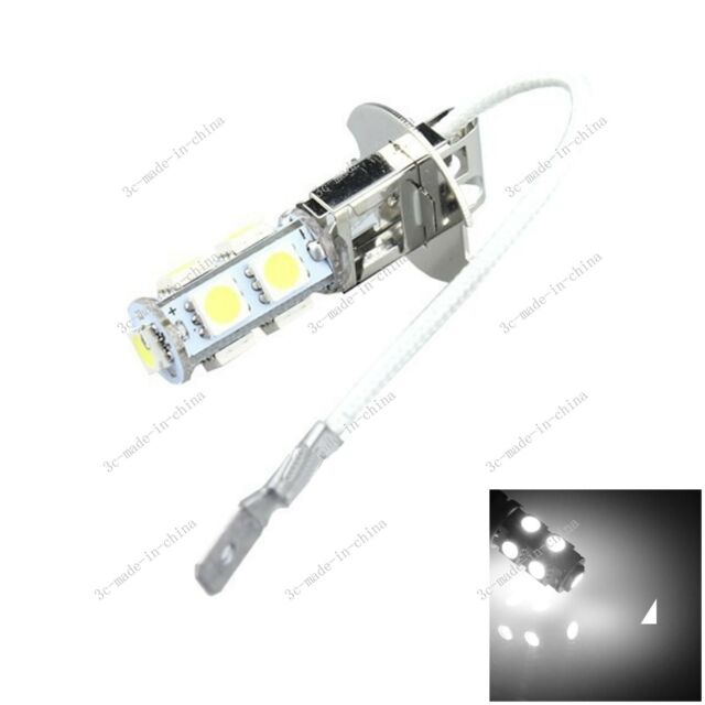 1X 9 5050 SMD LED H3 Bulb White Fog Light Parking Low High Beam Lamp DC 12V H051