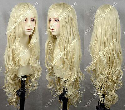 Milk Blonde Wavy Lolita Princess Party Cosplay Wig 100CM