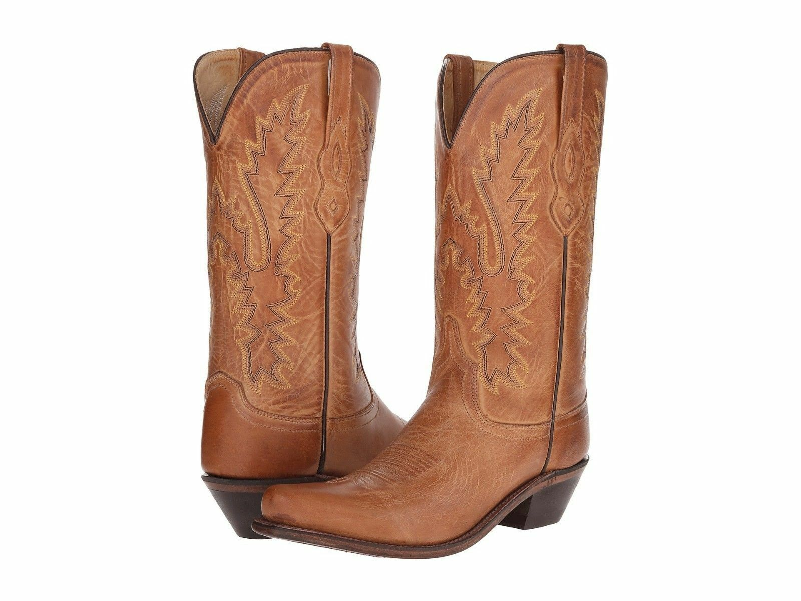 MEN'S OLD WEST BROWN LEATHER SNIP TOE WESTERN BOOTS MF1529