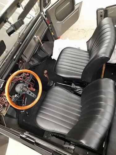 """VW 181 Kübel Vordersitz Bezüge /""""Luxus/"""" Lehne und Sitzfläche schwarz"""
