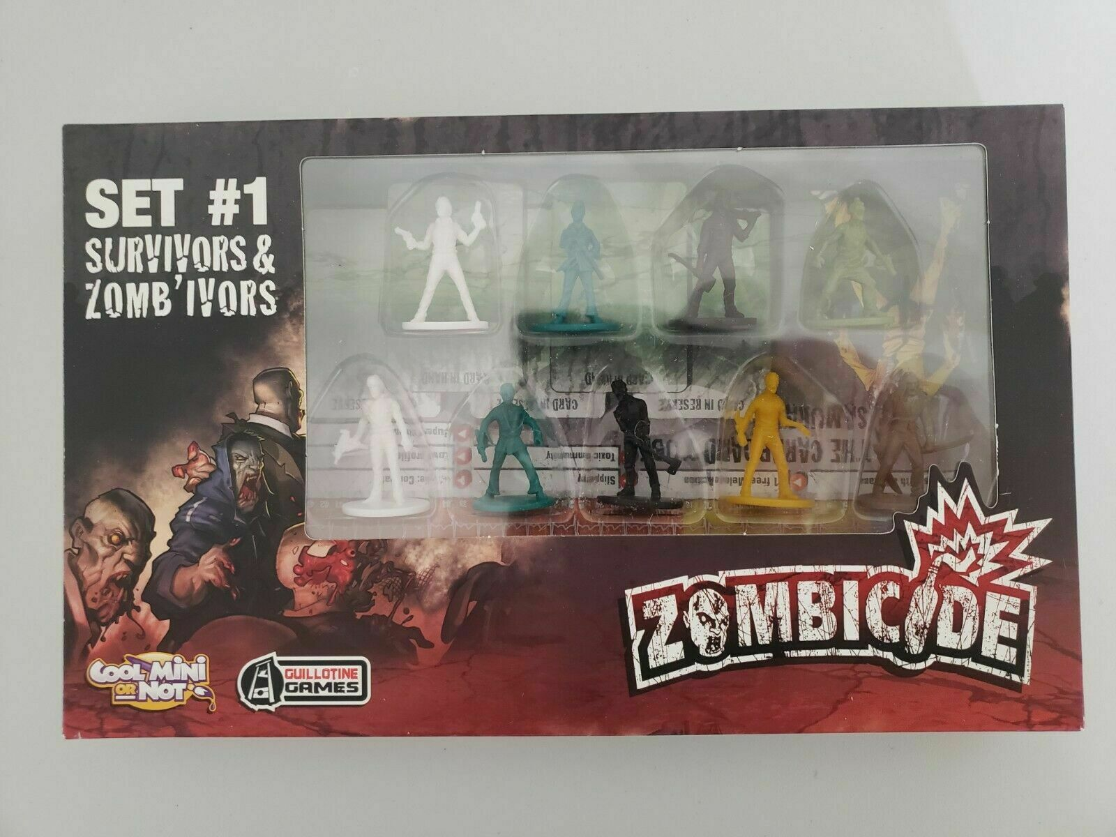 Saison 1 Set 1 Überlebende und Zombie Kickstarter Exklusiv Neu Neu Neu 652