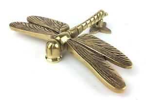 Solid Brass Dragonfly Door Knocker – Antique Vintage Style Dragon Fly Knockers 799475481383