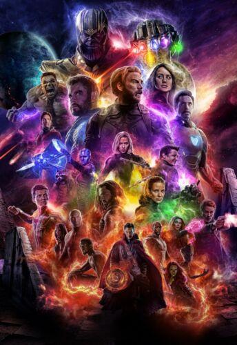 Avengers Endgame Art Poster Iron Man Thor Hulk Captain America 11x17 13x19