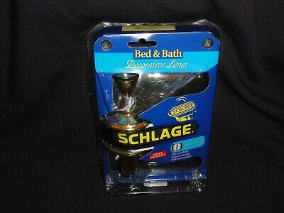 Schlage - Bed & Bath Decorative Lever, F40v Fla605 Bright Brass Tegen Elke Prijs