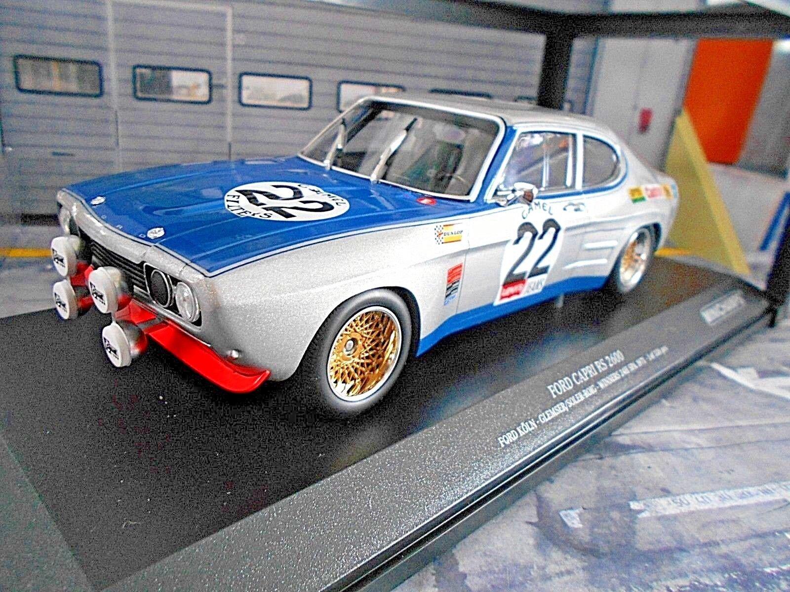 Ford Capri RS 2600 rs2600 MKI 24h spa winner 1971  22 Glemser tan Minichamps 1 18