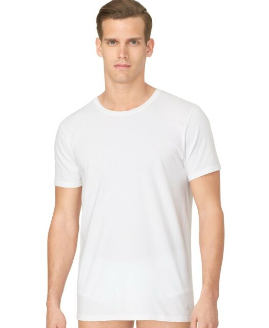 8238f0d8 $99 CALVIN KLEIN MEN WHITE 3-PACK CLASSIC-FIT COTTON CREW NECK UNDERSHIRT  SIZE
