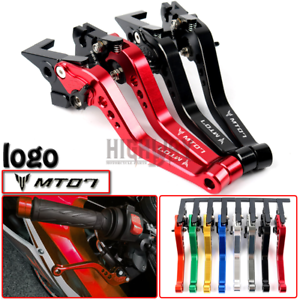 Kurz-Einstellbar-Brems-Kupplung-Hebel-Brake-FUR-Yamaha-FZ-07-MT-07-2014-2017