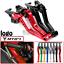 Kurz-Einstellbar-Brems-Kupplung-Hebel-Brake-FUR-Yamaha-FZ-07-MT-07-2014-2017 Indexbild 1