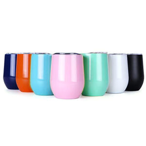 12-OZ-Stainless-Steel-Tumbler-Egg-Cup-w-Lid-Double-Wall-Insulated-Travel-Wine
