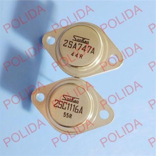 1 Paire ou 2PCS Transistor Sanken TO-3 2SA747A//2SC1116A A747A//C1116A