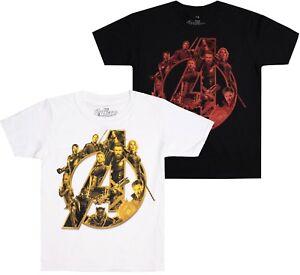 Marvel-Avengers-Logo-Boys-Kids-T-Shirt-AGE-7-12-Official-Licensed