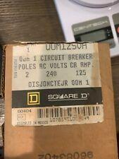 Square D Qom125vh Industrial Control System 2 Pole 125 Amp 120240v