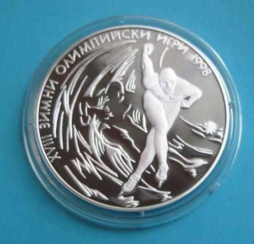 MINT BULGARIA 1000 leva 1996-18th Winter Olympics Nagano Skate running COA