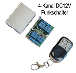Remote HandSender 12V 4 Kanal Universal wireless switch Empfänger Funkschalter