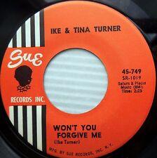 IKE & TINA TURNER soul 45 Won't You Forgive Me / It's Gonna Work Out Fine w6497