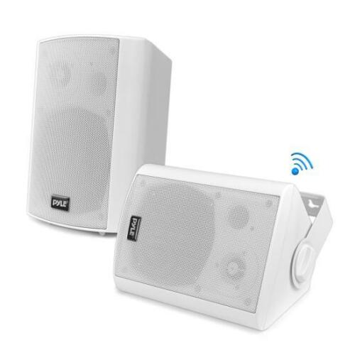 "NEW Pyle PDWR51BTWT Wall Mount Waterproof /& Bluetooth 5.25/"" In//Outdoor System"
