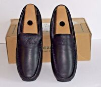 Ll Bean Black Lakeside Slippers Slip On Size 12 M Leather Upper Flannel Lining