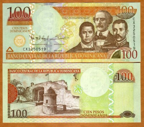 UNC 2013 P-New 100 Pesos Dominicanos Dominican Republic