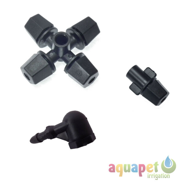 Micro Irrigation Foggers / Misters 6mm 4mm Four Outlet One Outlet Elbow Mister