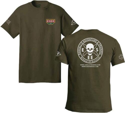 ESEE Logo Front /& Back Training Green Medium Men/'s Short Sleeve T-Shirt TSGRMED