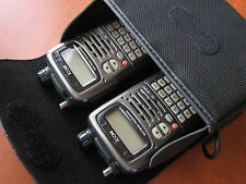 Premium quality padded leather carry case! For ICOM IC-E90 handheld transceiver!