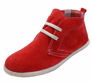 COTSWOLD-FRANKHAM-RED-SUEDE-LEATHER-CASUAL-DESERT-FLAT-ANKLE-BOOTS-SIZES-6-amp-7