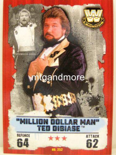 "Slam Attax Takeover #252 /""MILLION DOLLAR MAN/"" Ted DiBiase"