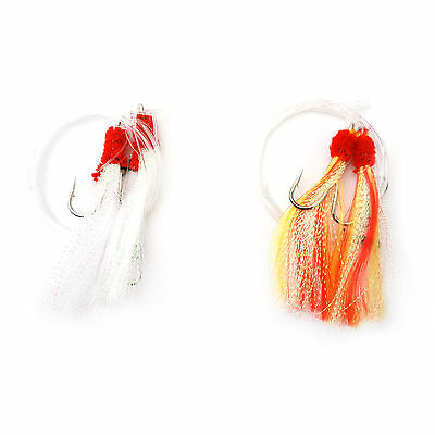 2~50packs Fishing Rock Fish Shrimp Fly Rigs Krystal Flash Bait Hook size 5/0 New