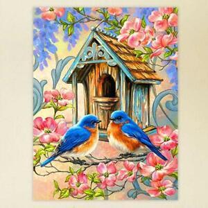 Bird-Flowers-DIY-Full-Drill-5D-Diamond-Painting-Cross-Stitch-kit-Home-Decor