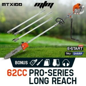【EXTRA10%OFF】MTM 62CC Pole Chainsaw Saw Petrol Chain Tree Pruner Extended