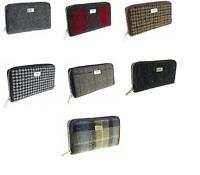 Ladies 100% Harris Tweed Long Zip Purse 7 Authentic Patterns Available Brand