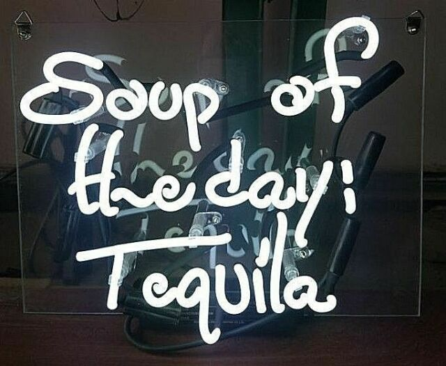 """Soup Of The Day Tequila Neon Light Sign Acrylic 14""""x10"""" Lamp Glass Beer Bar Wall"""