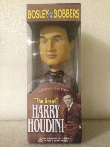 BOSLEY BOBBERS HARRY HOUDINI VINYL LIMITED EDITION BOBBLE HEAD BRAND NEW RETIRED