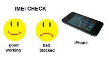 Australia , Softbank / Japan - iPhone  BAD / CLEAN IMEI STATUS CHECK