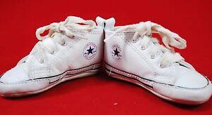 da4a138b9ecd46 Infant Baby CONVERSE Crib Shoes SIZE 3 White Vintage Style - Boy ...