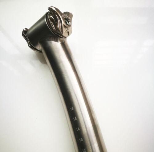 MTB Bicycle Bike Cycle Ti Setback Titanium Seatpost 27.2  30.8 31.6 350//400 mm