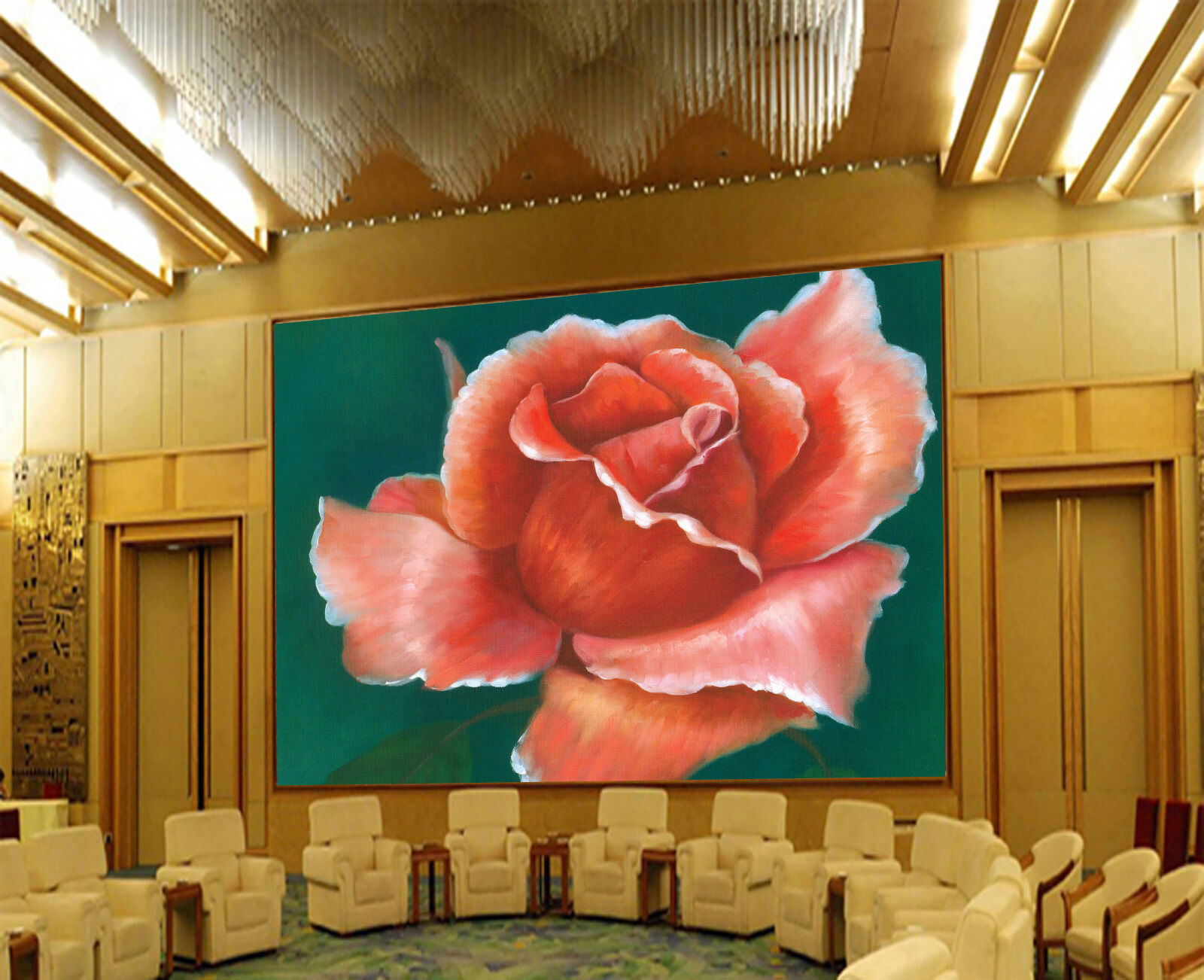 3D Painted ROT Flowers 233 Paper Wall Print Wall Decal Wall Deco Indoor Murals