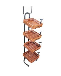 4-Livelli-Cestino-Base-Segno-Clip-Vimini-Panificio-Scaffaltura-Produrre-Alimenti