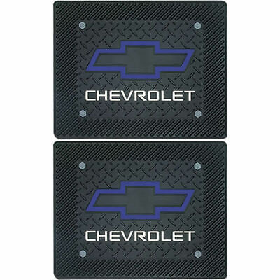 2 piece Heartbeat of America Black Rubber Rear Floor Mats for Chevrolet Chevy