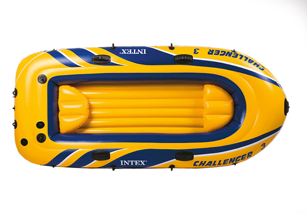 Intex Challenger 3 Inflatable Raft Pump Boat Set With Pump Raft And Oars | 68370EP 4b6273