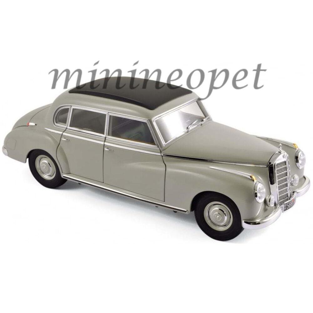 NOREV 183578 1955 55 MERCEDES BENZ W186 300 1 18 DIECAST MODEL CAR LIGHT grigio
