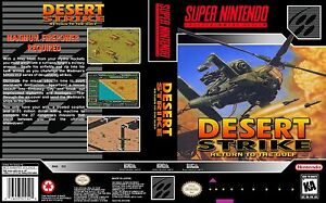 Desert Strike Snes Box Art Case Replacement Insert Cover Scan