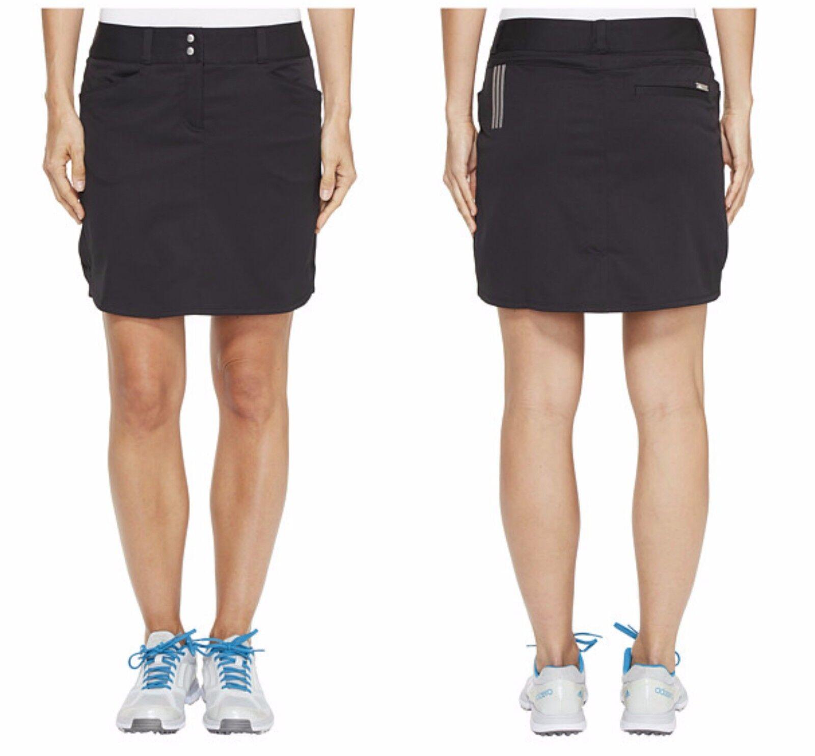 ΝέΡς ΓυναίκΡς Adidas Golf SZ 6 μαύρο Essential 3-Stripe Skort φούστα