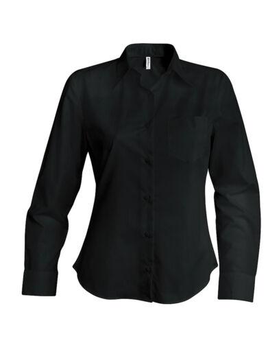 Chemise femme manches longues noire Kariban K549