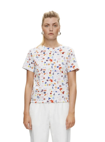 Saks Potts Plastic Olympia Tee Shirt Small  - image 1
