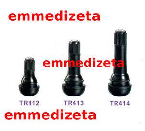 10 Valvole TR413 per pneumatici tubeless auto e moto (Corte) cerchi lega / ferro