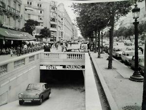 Station-TOTAL-Champs-Elysees-Paris-Fouquet-039-s-annees-50-60-photo-grand-format
